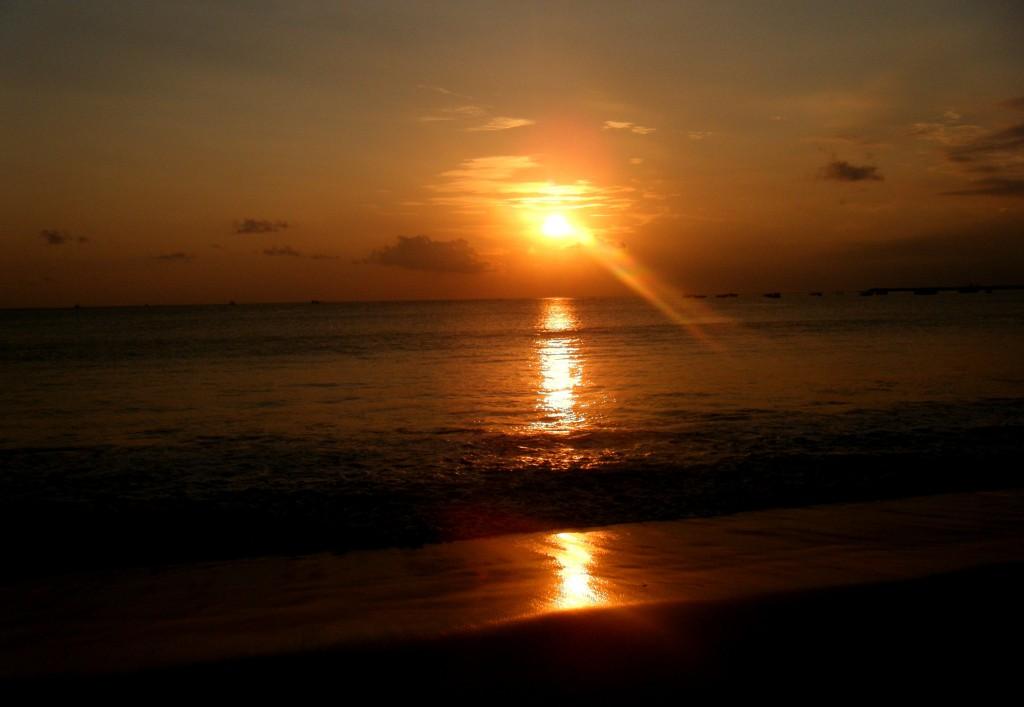 coucher de soleil a Jimbaran