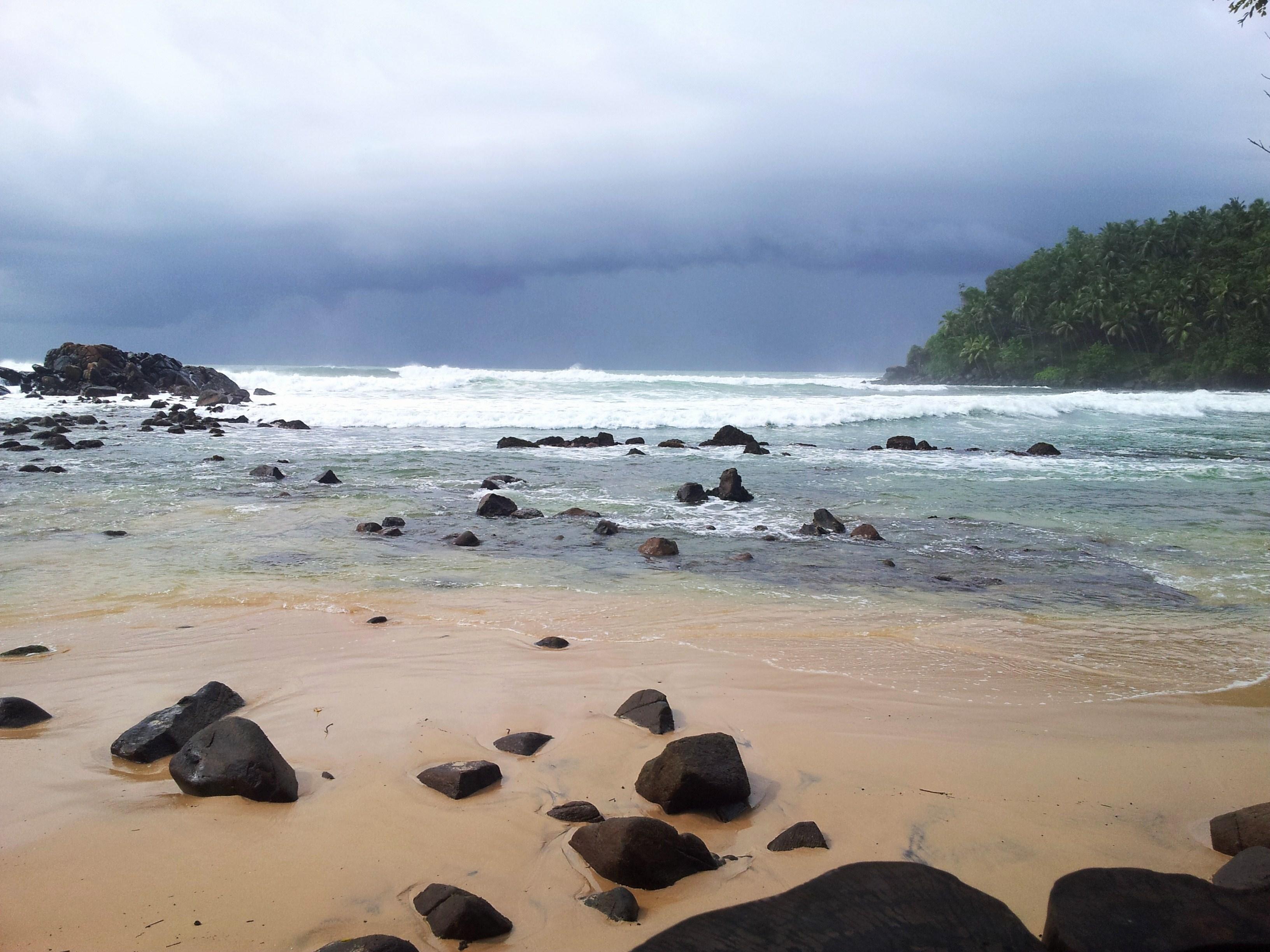 Plage de Mirissa au sud du Sri Lanka