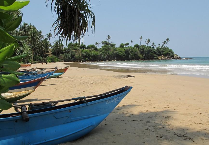 Ville de Mirissa au Sri Lanka