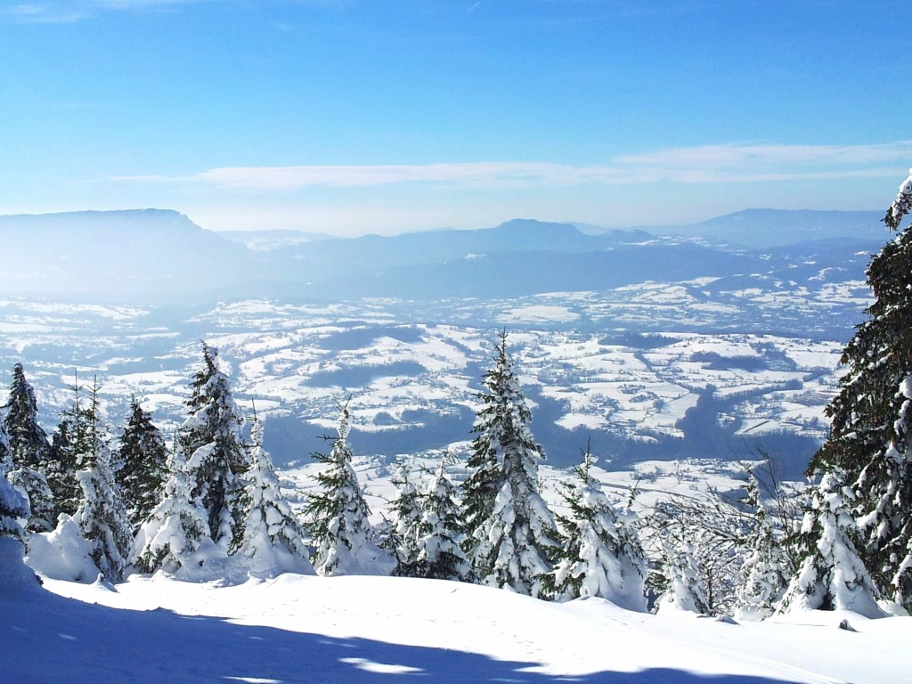 Balade en raquettes au Semnoz en Haute Savoie