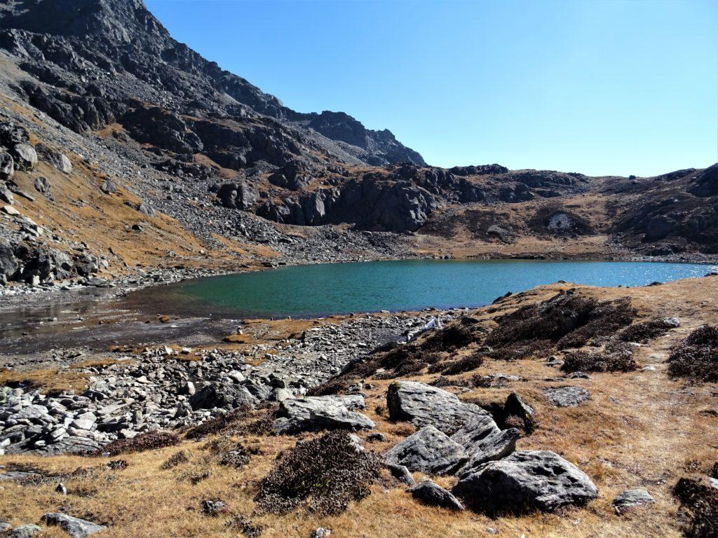 Lacs dans la région de Gosainkund au Népal