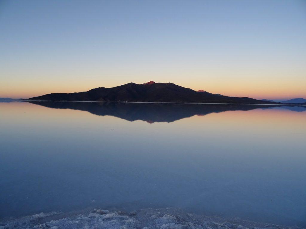 Lever du soleil Salar d'Uyuni